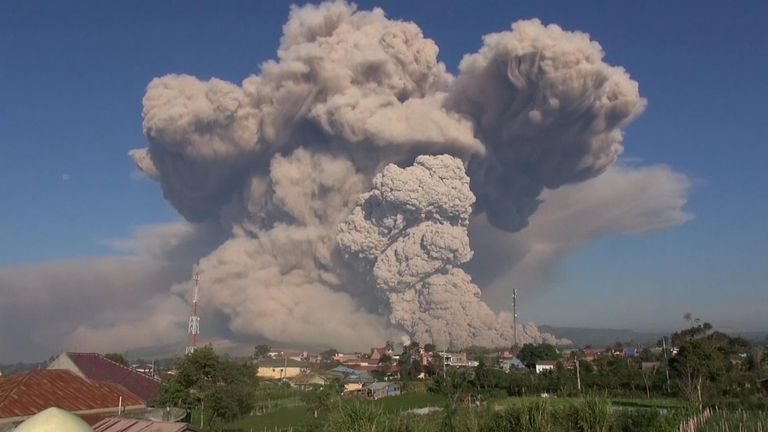 Sinabung is among more than 120 active volcanoes in Indonesia, which is prone to seismic upheaval due to its location.