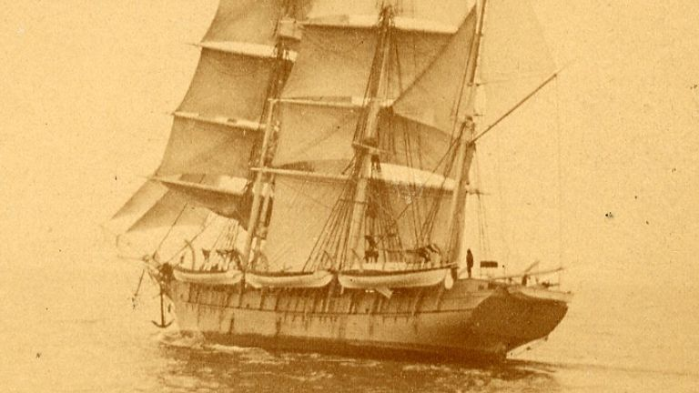 The 19th century whaling ship the Fleetwing.