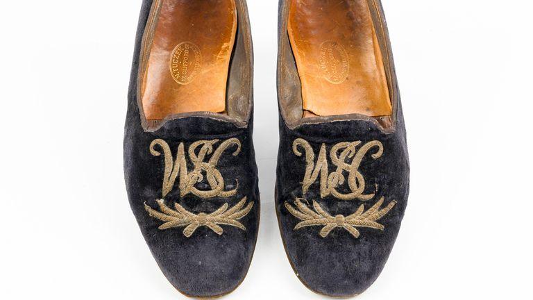 Winston Churchill's velvet slippers