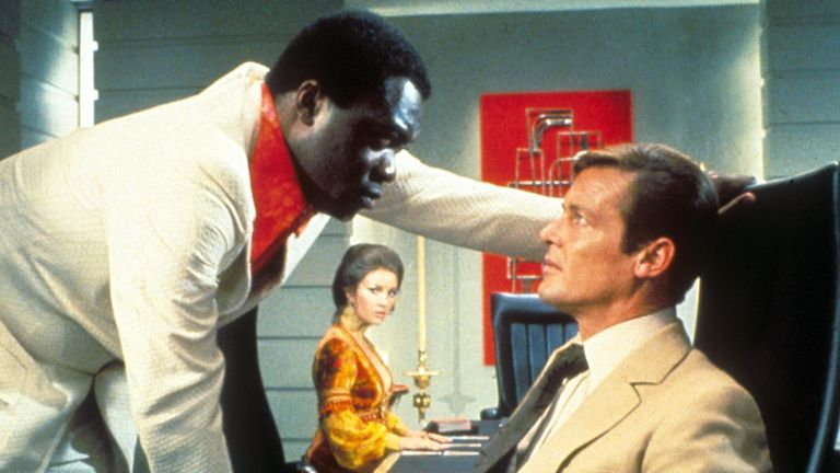 Yaphet Kotto and Roger Moore in Live And Let Die. Pic: Moviestore/Shutterstock