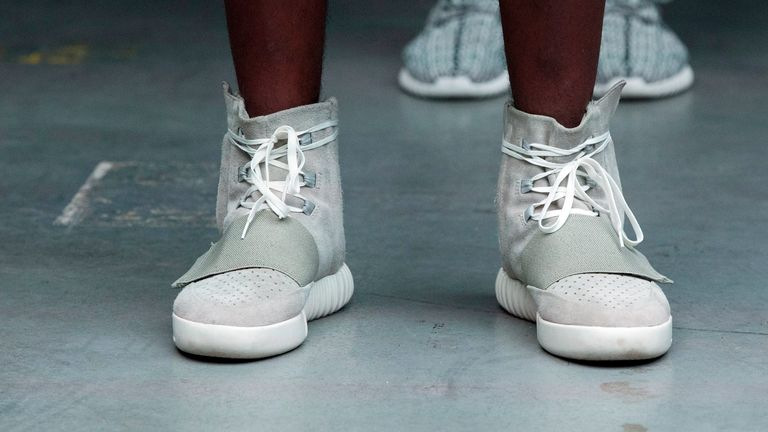 Yeezy, West's sneaker and apparel business with Adidas AG and Gap Inc., is valued at $3.2bn (£2.2bn) to $4.7bn (£3.4bn). Pic: FASHION SOCIETY