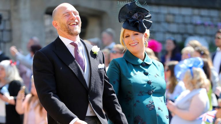 Zara was pregnant with Lena at Harry and Meghan's wedding in 2018