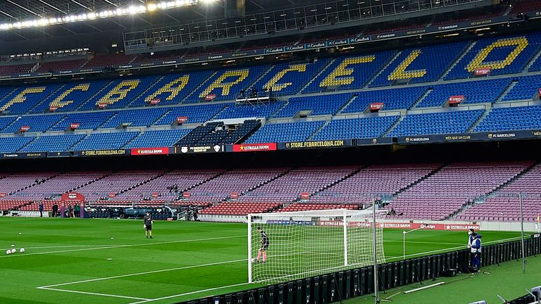 Spanish police have launched a search and seize operation at Barcelona's Nou Camp stadium