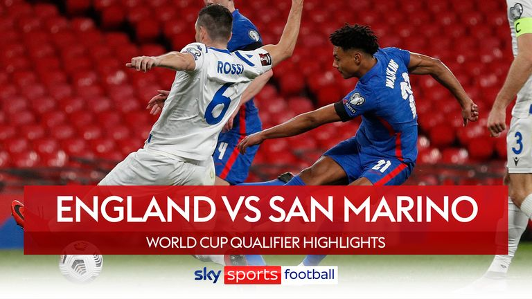 Highlights of England vs San Marino from FIFA World Cup European Qualifying Group I
