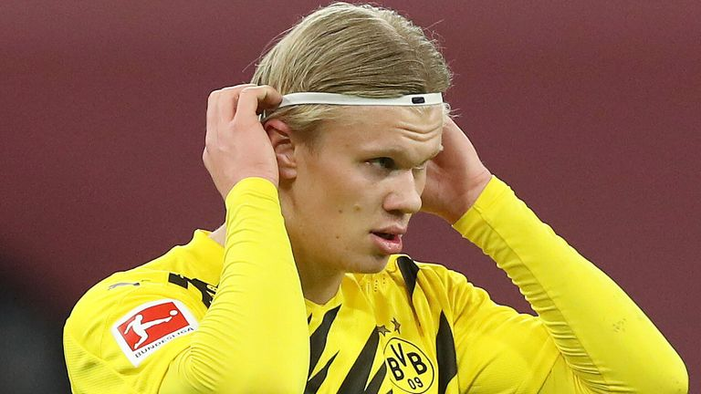 Pep Guardiola believes Erling Haaland is one of the best strikers in the world as he hailed the talent within the Borussia Dortmund squad, after drawing the German side in the Champions League quarter-finals