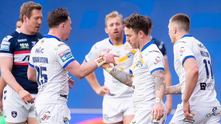 Highlights from Leeds Rhinos' narrow win against Wakefield in the opening round of Super League