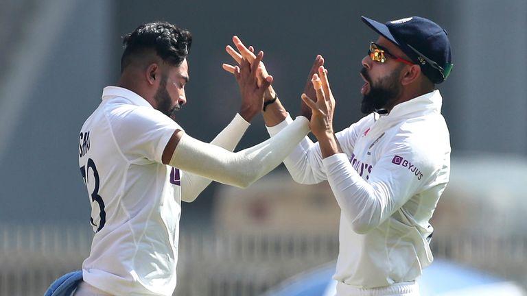 Mohammed Siraj and Virat Kohli (Associated Press)