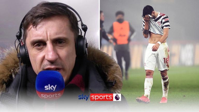 "Gary Neville described Manchester United's performance at Crystal Palace as ""boring"""