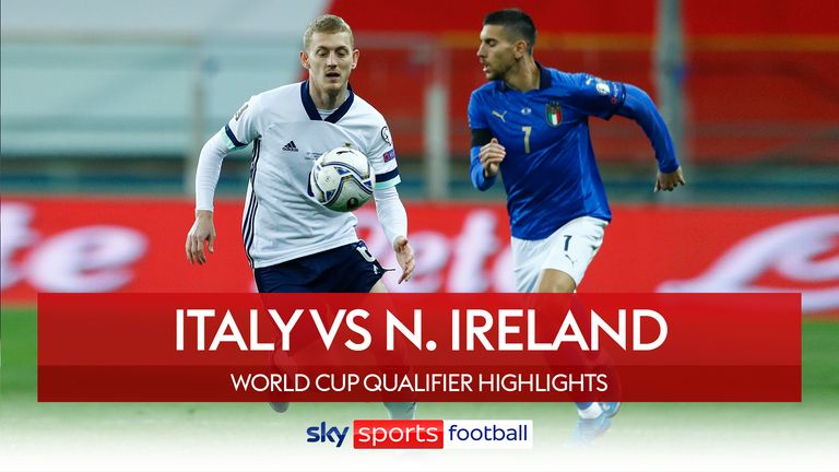 Highlights of Italy vs Northern Ireland from FIFA World Cup European Qualifying Group C