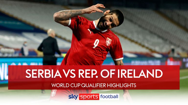 Highlights of Serbia v Republic of Ireland from FIFA World Cup European Qualifying Group A