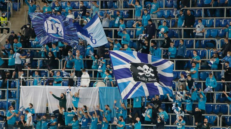 Zenit supporters are being allowed to have the Sputnik V vaccine at the club's home matches for the remainder of the season