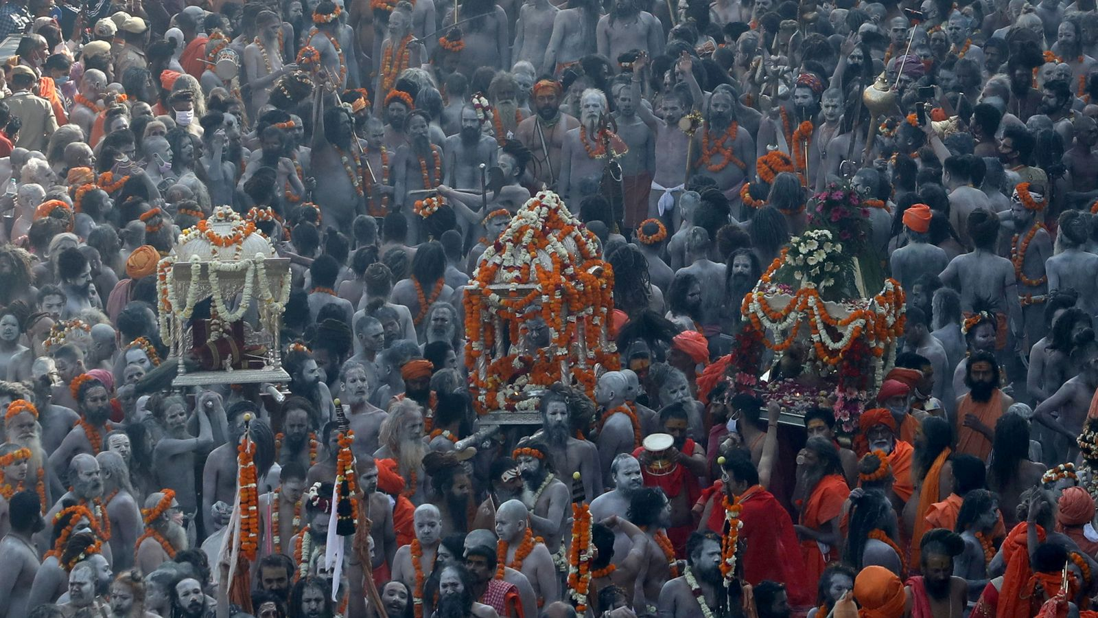 COVID-19: India sees record case numbers as millions of pilgrims flock to Hindu festival