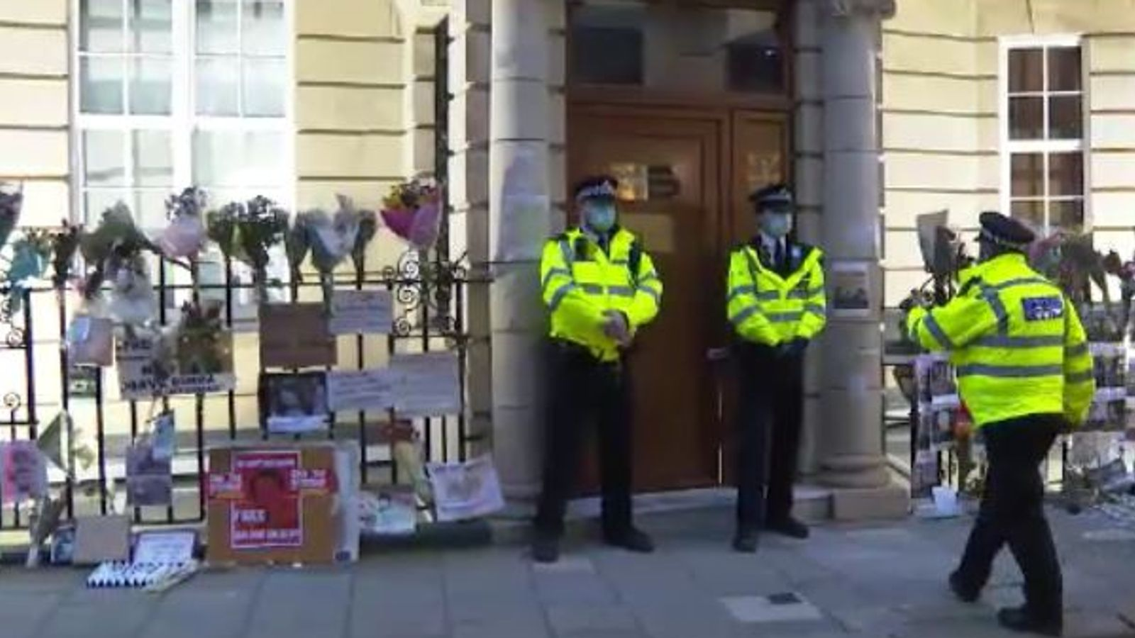Myanmar's UK ambassador 'locked out' of London embassy after speaking out against coup