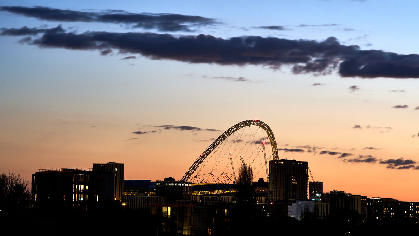 COVID-19: Thousands of fans return to Wembley for FA Cup semi-final as part of coronavirus events trial