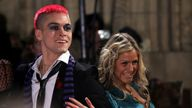 (R-L) Nikki Grahame and Pete Bennett arrive for the National Television Awards 2006 at the Royal Albert Hall in west London.