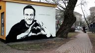 Graffiti in support of Alexei Navalny in St Petersburg, Russia