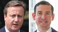David Cameron and Lex Greensill