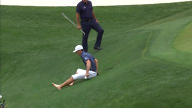 Horschel's water save after funny fall!