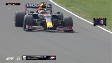 Verstappen goes airborne!