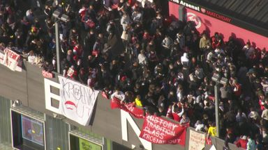 Arsenal fans protest over ESL, Kroenke