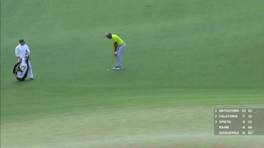 Finau's hole-out birdie via the bank