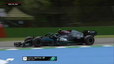 Bottas struggles through turn 13