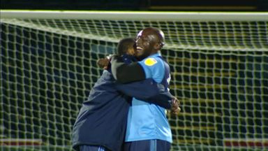 Akinfenwa mobbed after injury-time winner