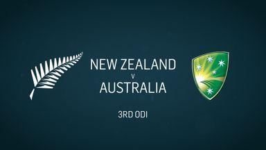 Women's: NZ v Australia - 3rd ODI