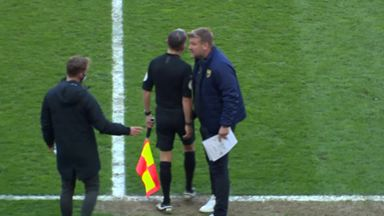 Karl Robinson receives red card