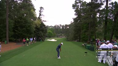 Schauffele inches from Augusta ace