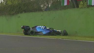 Latifi crashes out in Imola