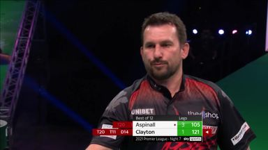 Clayton breaks back with 121 out