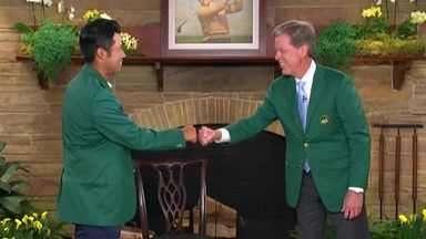 Matsuyama presented with Green Jacket