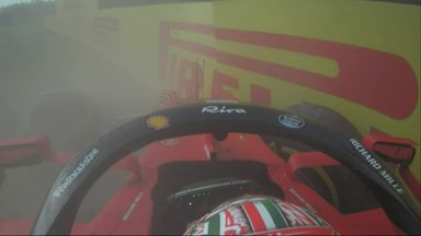 Leclerc crashes out in Imola