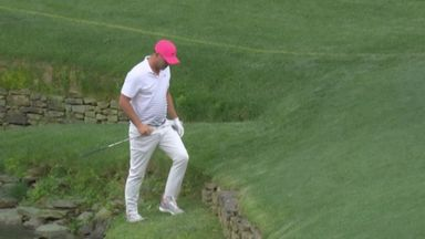 Koepka helped out of ditch