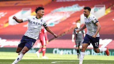 HT: Liverpool 0-1 Aston Villa