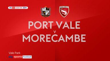 Port Vale 1-0 Morecambe
