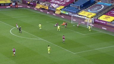 Tarkowski clears off the line! (90)