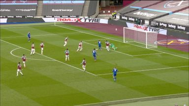 Fabianski claws away Pereira effort (80)