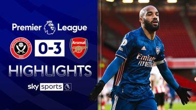Lacazette stars as Arsenal ease past Blades
