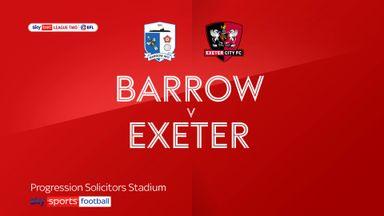 Barrow 2-1 Exeter
