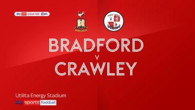 Bradford 0-2 Crawley