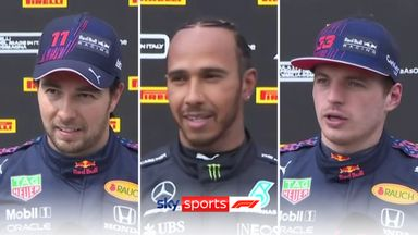 Top 3: Hamilton, Perez, Verstappen