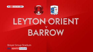 Leyton Orient 2-0 Barrow