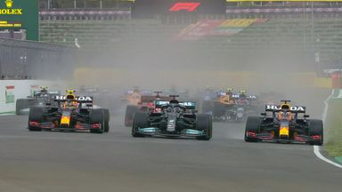 Max, Lewis collide into Turn One