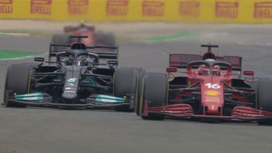 Hamilton into the podium places