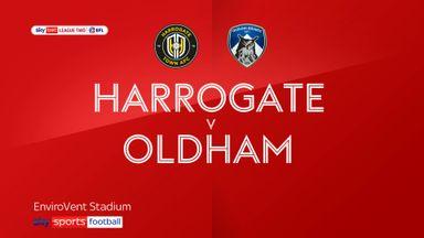 Harrogate 0-3 Oldham