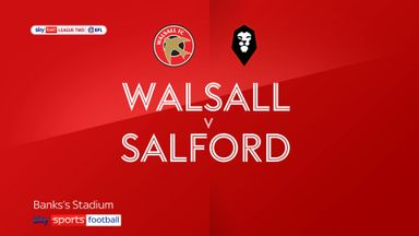 Walsall 0-2 Salford