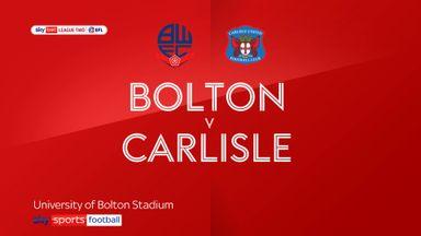 Bolton 1-0 Carlisle