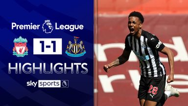 Willock earns Newcastle a point at Anfield